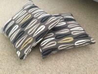 Brand new unused pillows x 2 Park Furnishers Coffee Bean design