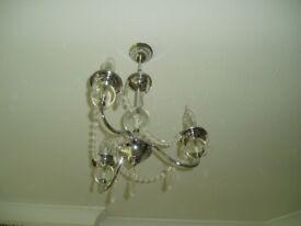 3 light ceiling pendant in chrome