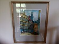 Water Colour Paintings of Newcastle Upon Tyne Scenes by John Derry.