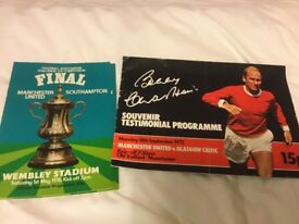 Manchester United Programmes from 1969-1986 (approx 300)