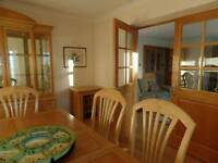 Dining table and 6 chairs plus cabinet