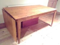 Solid pine NORNÄS Ikea drop leaf dining table