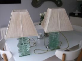 Beautiful John Lewis Glass Table Lamps (2)