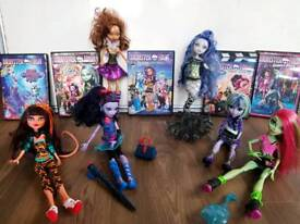 Monster high dolls & dvds sirena Jane boolittle twyla clawdeen toralei Venus vgc