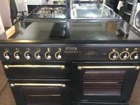Black rang master 110cm gas cooker grill & double ovens with guarantee