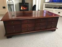 Solid wood - 12 drawer coffee table