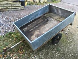 Galvanised trailer 155cm x 107cm removable tail gate