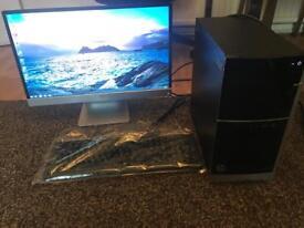 HP Pavilion 500-326NA Gaming Desktop PC + 23 inch HP Monitor and brand new keyboard