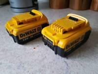 Dewalt 18v 4.0ah batteries dcb182