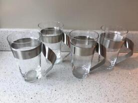 4 x villeroy and boch new wave latte glasses