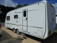 Sterling Eccles Elite Overlander 4 Berth Twin Axle Caravan + Dorema porch awning and lots more!