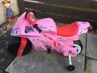 Pink Hello kitty 12v motorbike