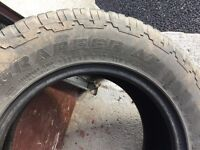 4x Grabber AT 255/65 R17 110H Winter Tyres for sale vgc from Nissan Navara z