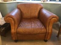 Beautiful real leather tan arm chair