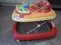 Chicco baby walker with car activity panel