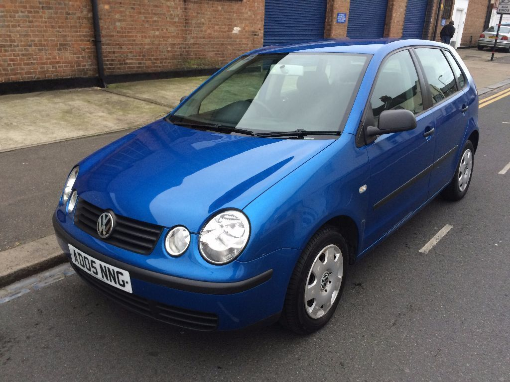 vw volkswagen polo 1 2 e 2005 blue 5 door low miles full service history long mot good tyres 2. Black Bedroom Furniture Sets. Home Design Ideas