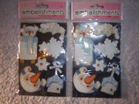 2 x Snowman Craft Embelishments IP1