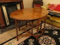 Vintage Barley Twist Drop Leaf Table - Perfect Shabby Chic Project