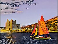 Art print of Lochranza. Isle of Arran