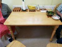 Wood Kitchen table and 5 chairs