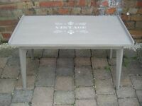 """Painted Coffee Occasional Table With """"Vintage"""" Decal"""