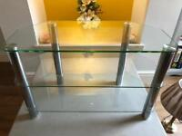 Glass and chrome tv stand £10