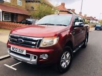 FORD RANGER 2012 PICK UP DOUBLE CAB LIMITED 2.2 TDCi 150 4WD AUTO NOT NISSAN NAVARA OR TOYOTA HILUX