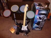 Rock Band Drum Kit With Games + Accessories For PS2/3. Boxed With Instructions