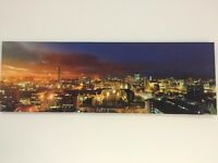 Canvas picture of Manchester at sunset.