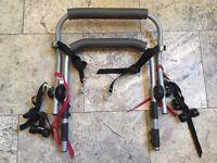 Bike rack - fits over boot door - holds 2 bikes £30