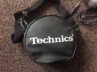 Numark DJ headphones + Technics travel case