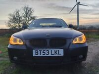 BMW 545i 4.4 Petrol v8 Saloon Black recently fully serviced with 1 Year MOT
