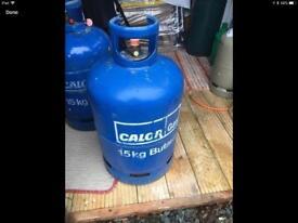 3/4 full calor 15kg gas bottle no surcharge on bottle £35