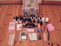 Gel Polish Starter *NEW* Kit with LED lamp, 25 gel polishes, chrome powder,remover kit