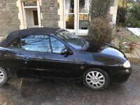 Renault Megane 1.6 l black 2001 cabriolet