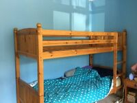 Wooden Bunk Beds with mattresses