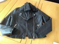 Kids faux leather jacket n party jump suit