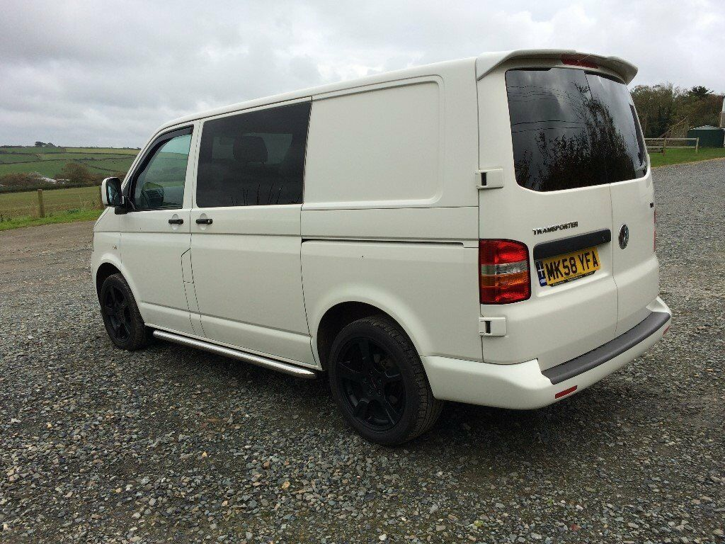vw t5 transporter sportline kombi window van 138bhp no vat in bude cornwall gumtree. Black Bedroom Furniture Sets. Home Design Ideas
