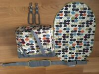 JJ Cole changing bag with Orla Kiely print design
