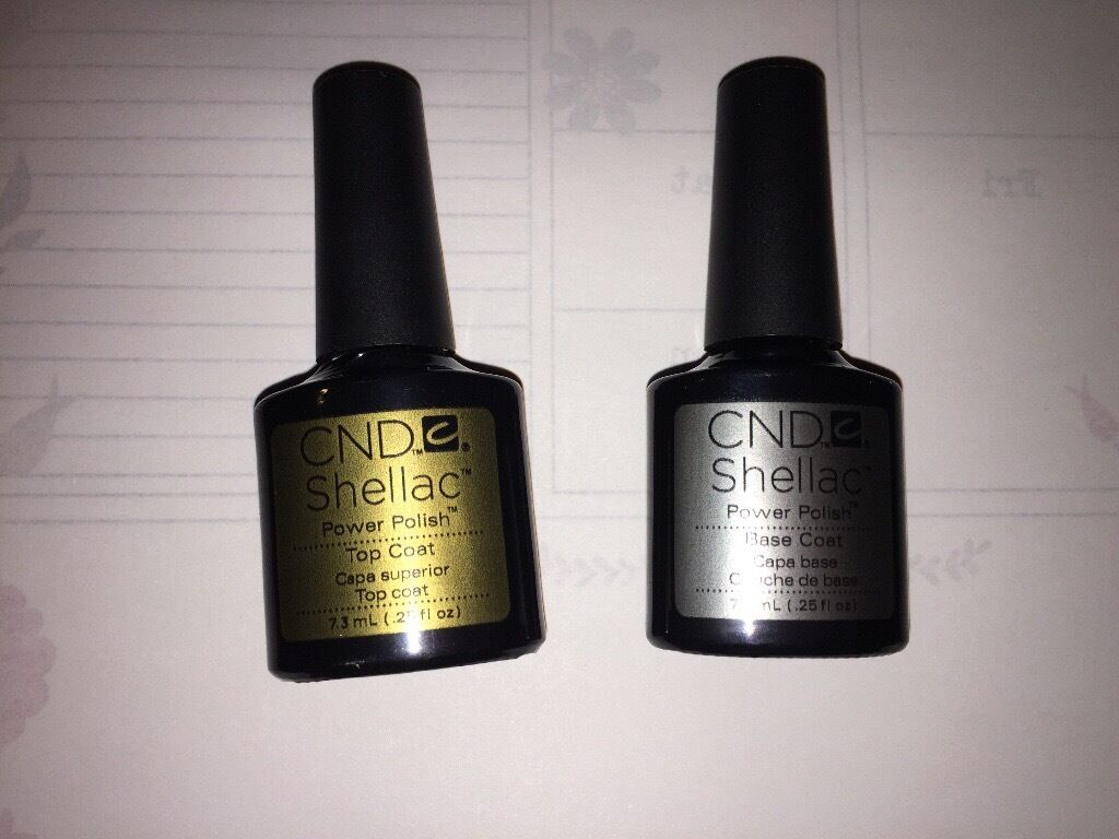 CND Shellac Top coat & Base Coat Brand New ! 2x 7.3ml
