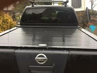 Armadillo roller shutter top for a Nissan navara D40