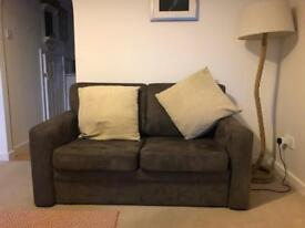 2 seater suede sofa bed