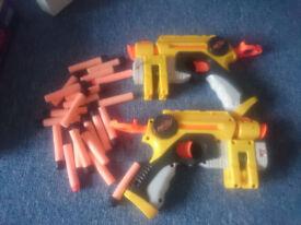 Nerf gun pistols single shot