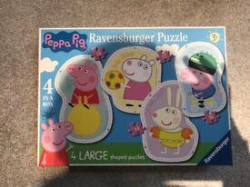 Ravensburger Peppa Pig 4 in 1 shaped jigsaw puzzles