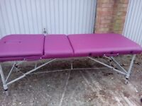 pink massage table