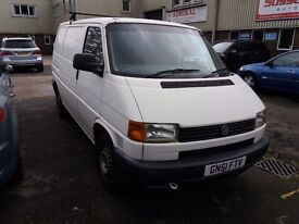 2002 Vw T4 Transporter 2.5 TDi SWB with low mileage, a full MOT and only 2 previous owners from new.