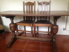 Oak 6 Seater Dining Table