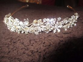 Tiara for sale. Worn only once. Cost £50.00. Will sell for £10.00