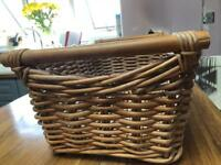 Wicker basket storage rectangular