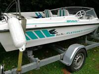 Fletcher bravo arrowfltye speedboat 14ft